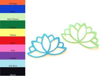 25 pack - Paper Lotus Flower Shape, Lotus Flower Die Cuts, Lotus Flower Cut Out, Party Supplies, Scrapbooking Supplies