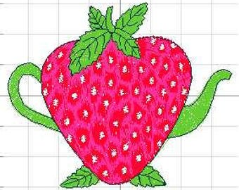 Strawberry Machine Embroidery Design, 4x4 Hoop Size, Instant Download