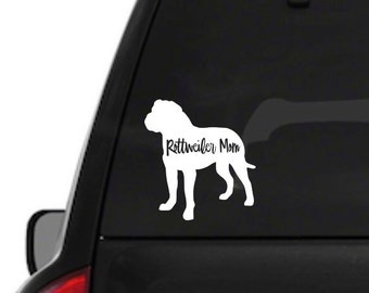 Rottweiler Mom Decal