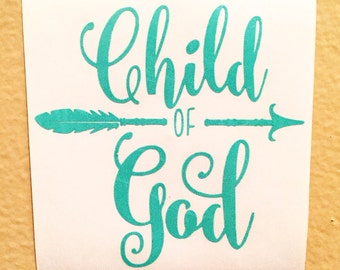 Child Of God Decal | Christian Decal | Yeti Cup Decal | Tribal Decal | Yeti Cup Decal | Jesus | God | Religion | Religious Decal |