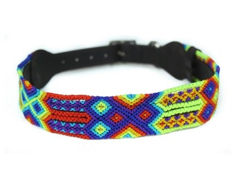 Horizon Dog Collar - Red/Yellow/Blue