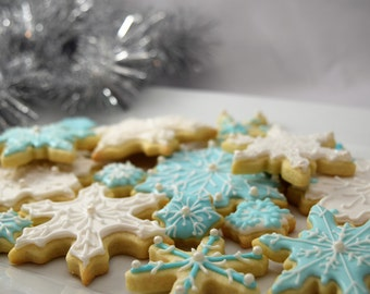 Winter Snowflake Cookies - 1 Dozen