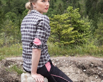 Check shirt 'Hanna' with patches