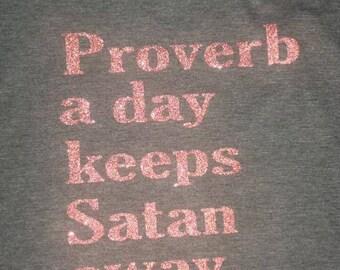 Proverb a day keeps Satan away