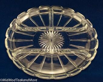 Vintage Glass Serving Platter/Dish