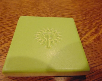 Vintage Rookwood tile in a Matte Green Finish (free shipping)
