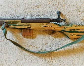 Vintage Handmade Rifle Childs Toy