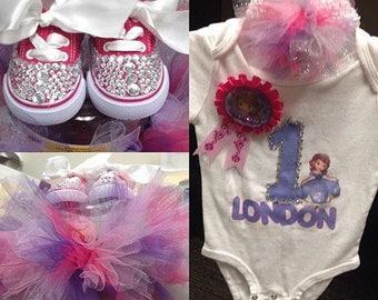 Purple and pink tutu