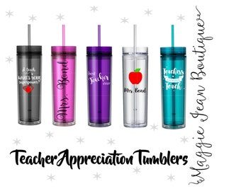 Teacher Appreciation Skinny Tumblers
