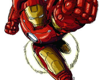 Iron Man Photoshop Sketch