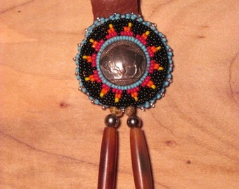 Native American Beaded Keychain Beaded Keyring