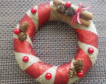 Small Christmas Wreath / Table Centrepiece