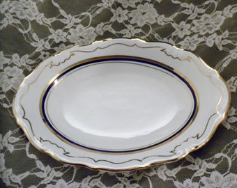 Vintage Wakbrzych Polish China Serving Platter