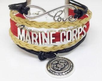 Marine Corps, Marine, USMC, Marine Bracelet, USMC Bracelet, Marine Jewelry, Marine Jewelry, Marine Deployment, USMC Deployment, Marine Gift
