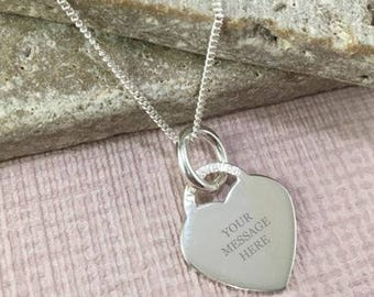 Solo Personalised Heart Necklace (Adults)
