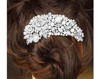 Luxury Austrian Cystal & Rhinestone Flower Bouquet Hair Comb Wedding Bridal Vintage Hair Accessories Women Headpieces BH1018i