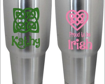 Irish Gift, Irish Decal Celtic Knot Decal, Car Decal, Yeti Decal, Laptop Decal, Waterbottle  Decal - *.99 Shipping*