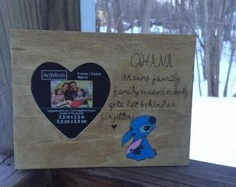 Lilo and stitch wooden frame