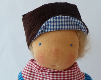 """Waldorf inspired doll, 12"""", Emil , Michel Puppe, Doll for boys"""