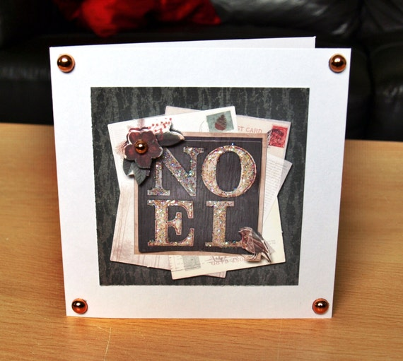 Noel Christmas Card Handmade - luxury personalised unique quality special UK