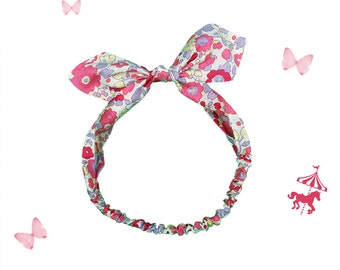 Headband baby / child liberty bougainvillea