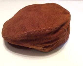 Vintage Seifter Suede cabbie/ newsboy hat