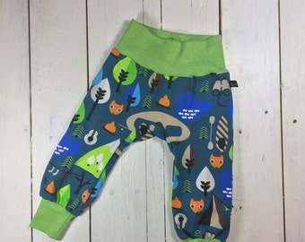 "Gr. 74 baby trousers ""CampingFuchs"" made of cotton jersey in size 74"