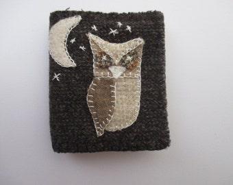 Needle Book/Needle Case/Needle Holder/Wool Night Owl