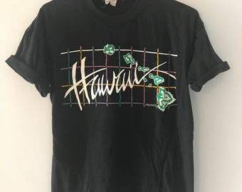 Vintage 80s super Soft Hawaii T-Shirt 1980s