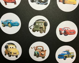 Precut Edible Cars Characters to decorate your cupcakes, cookies or cake with.
