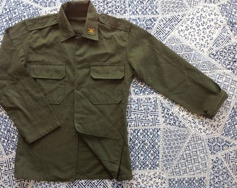 South korean green military jacket size S M