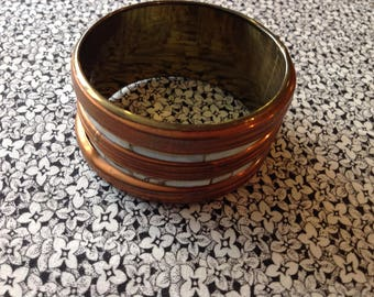 Vintage Brass and Shell Bracelet Made in India