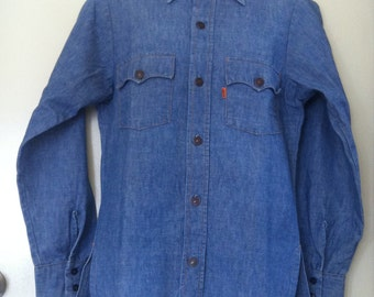 Shirt, Vintage Levis, Big E, Orange Tag.