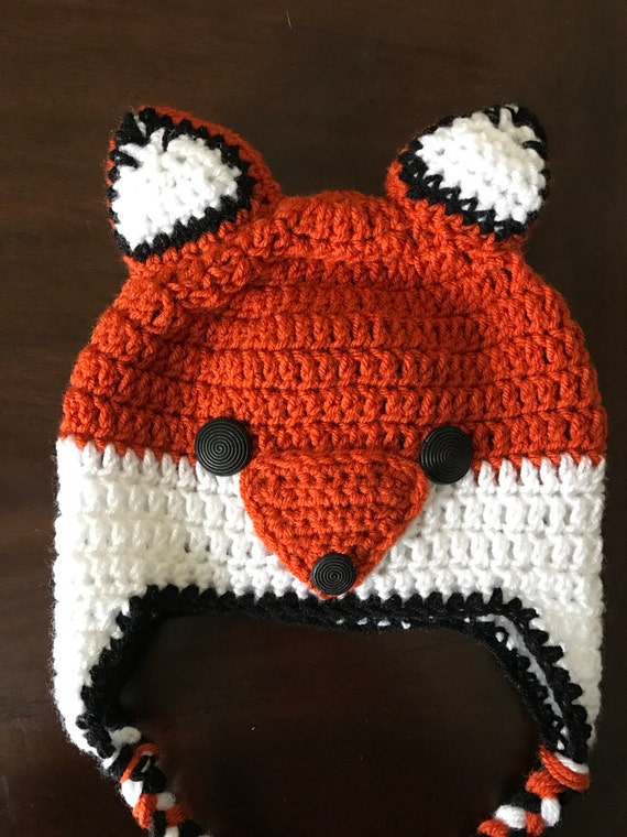 Foxy Lady // Women's Handmade Crochet Fox Hat // Animal Beanie