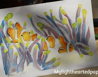 Clownfish Card // Carte Poisson Clown