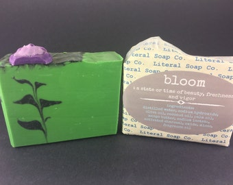 Bloom (Lemongrass/Sage/Lavender/Mango Butter/Vegan/Cold Process Soap)