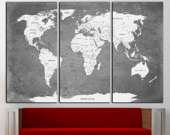 World Map Canvas Print Wall Art World Map Wall Decor World Map Print Old World Map Wall Art Travel Map Canvas Art Canvas Decor