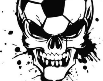 Soccer Skull Decal