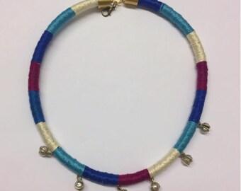 Samundra- chord necklace with vintage indian bells