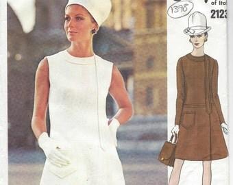 1969 Vintage VOGUE Sewing Pattern B38 DRESS (1378) By 'Irene Galitzine'