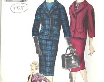 196Os Vintage Vogue  Sewing Pattern B34 Suit Skirt  Jacket  Blouse  (1728)