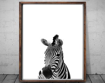 Zebra Print, Zebra Photography, Modern Art Print, Animal Print, Black and White, Animal Art Decor, Safari Animal Wall Art, Instant Download