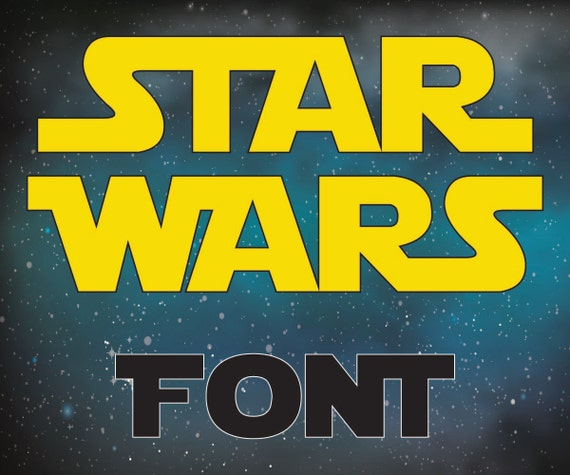 May The Fourth Be With You Lettering: Star Wars Letters Star Wars Alphabet Star Wars Font SVG