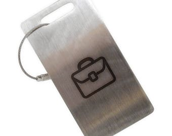Suitcase Stainless Steel Luggage Tag