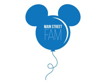 Disney Main Street Fam / Instant Download / Clipart graphic files / Cutting File SVG for Cricut, Silhouette / Vector / Pixar / Disney World