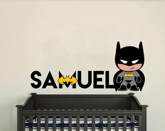 Personalized Name Hero Baby Boy  Room Nursery - Mural Wall Decal Sticker For Home Bedroom (602)