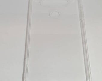 Blank LG V20 Phone Case with DustPlug for DIY project in Transparent. Plain Mobile Phone Case for Decoration.