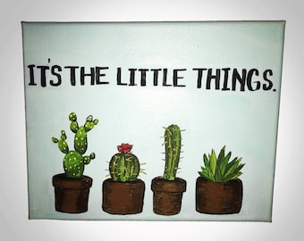 It's the Little Things Canvas