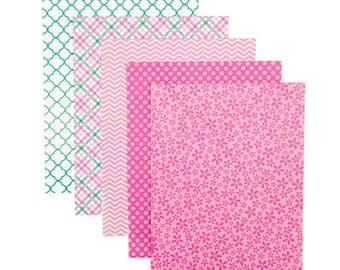 Patterned 8.5x11 Cardstock Paper Pack, Garden Party Prints, 25 Sheets