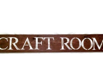 Craft Room sign, craft sign, custom signs, rustic sign, craft, room, sign, last name sign, choose your saying